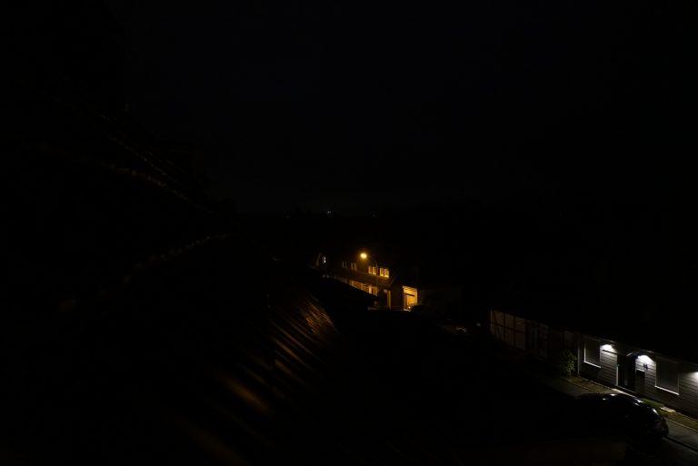 Blick über das Dach Richtung Köln Neujahr